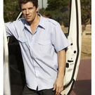 Service Shirt Short Sleeve Light Blue XLarge