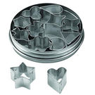 Tin Aspic Cutters Set 12pc 30mm