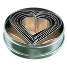 Tin Heart Cutters 6pc 50-90