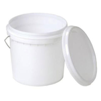 Picture of 10L Plastic Bucket With Lid And Metal Handle 260mm