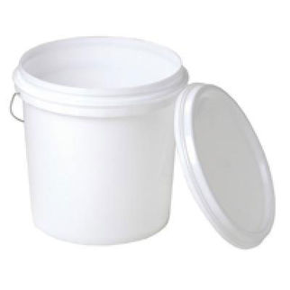 Picture of 15l Plastic Bucket With Lid And Metal Handle 280mm