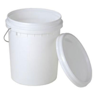Picture of 20l Plastic Bucket With Lid And Metal Handle 280mm