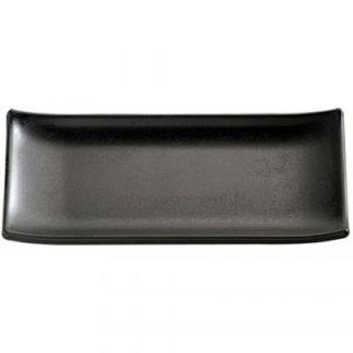 Picture of Aps Zen Rectangular Sushi Plate Black