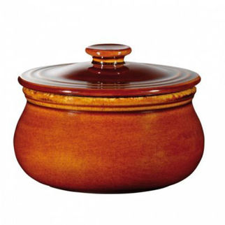 Picture of Art De Cuisine Rustics Mini Casserole With Cover Rustic Brown