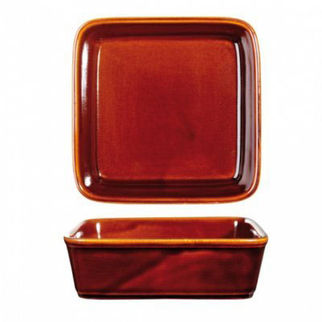 Picture of Art De Cuisine Rustics Square Tapas Dish 180mm Rustics Brown