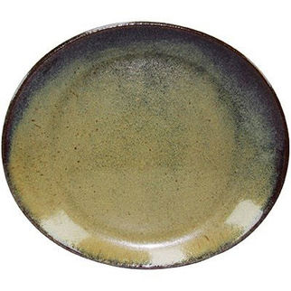 Picture of Artistica Oval Plate 210 X 190mm Reactive Brown