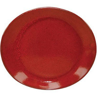 Picture of Artistica Oval Plate 210 X 190mm Reactive Red