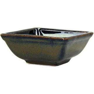 Picture of Artistica Square Sauce Dish 80 X 80 X 35mm Reactive Brown