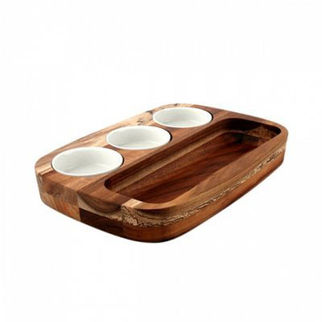 Picture of Athena Dipping Plate Set 205mm 300mm