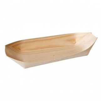 Picture of Bio Wood Disposable Oval Boat Pack Of 50 60x45mm
