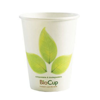 Picture of Biopak Branded White Single Wall Cup 8oz