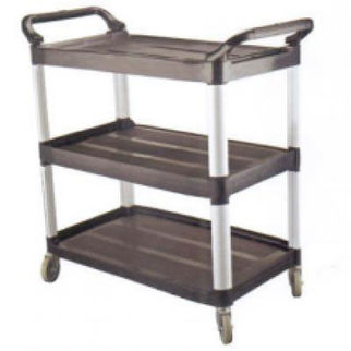 Picture of Caterax Black Utility Trolley open sides