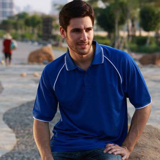 Picture of Breezeway Polo Small Royal Blue/White