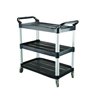 Picture of Cater-Rax Black Plastic Utility Trolley