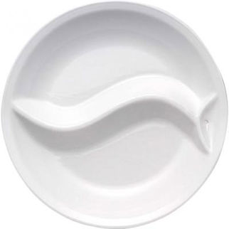 Picture of Ceramic Insert For Round Server 39cm 2 Div Ying Yang