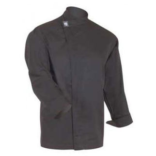 Picture of Chefs Tunic Top Black With Long Sleeves 2X Large