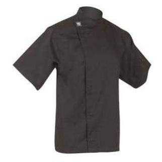Picture of Chefs Tunic Top Black With Short Sleeves Medium