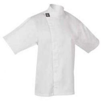 Picture of Chefs Tunic Top White With Short Sleeves 2X Large