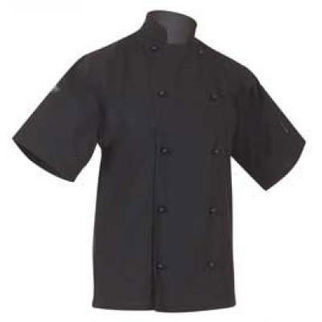 Picture of Classic Chefs Jacket Black Short Sleeves Medium