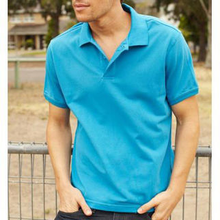 Picture of Classic Mens Polo Xlarge Cyan Blue