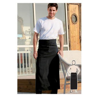 Picture of Continental Apron With Pocket Black
