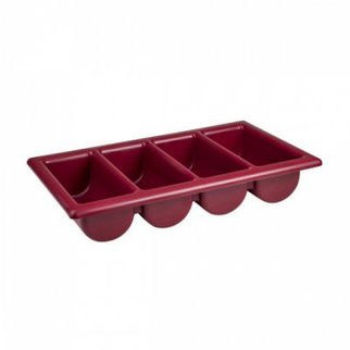 Picture of Cutlery Box 4 Compartment burgundy