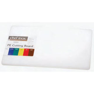 Picture of Cutting Board Pe White W Hdl Chef Inox w handle