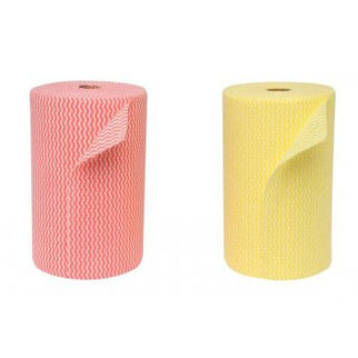 Picture of Edco Merriwipe Super Heavy Duty Wipes Roll Yellow