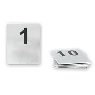 Picture of Flat Table Number Set Stainless Steel 21-30