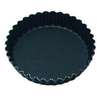 Picture of Fluted Tart Mould With 36 Ribs Solid Base 96mm