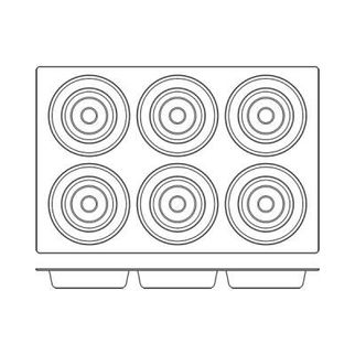 Picture of Frenti Silicon Tart Mould 6 Cup 6 Cup, 166 x 39
