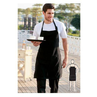Picture of Cotton Drill Full Bib Apron With Pocket Navy