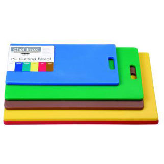 Picture of Haccp Polyethylene Cutting Boards Blue W/HDL 380x230x12