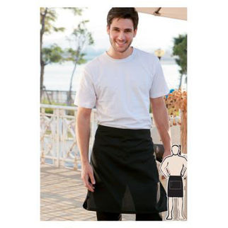Picture of Half Apron With Pocket  White