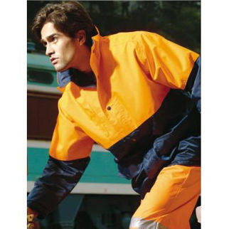 Picture of Hi Vis Mesh Lining Jacket Orange/Navy