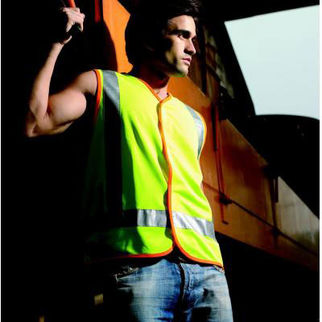 Picture of Hi Vis Vest With Reflective Tape Fluro Yellow Medium