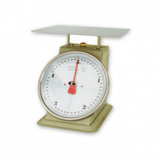 Picture of Kitchen Scale Grey Enamel Body up to 10kg  with ingredient bowl.
