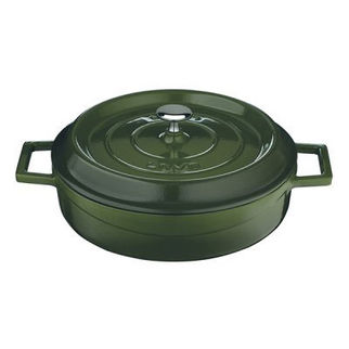 Picture of Lava Cast Iron Low Casserole Green 280mm