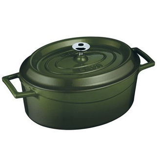Picture of Lava Cast Iron Oval Casserole Green 250mm