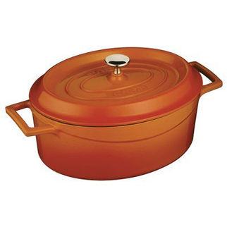 Picture of Lava Cast Iron Oval Casserole Orange 290mm