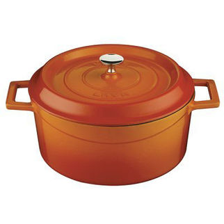 Picture of Lava Cast Iron Round Casserole Orange 280mm
