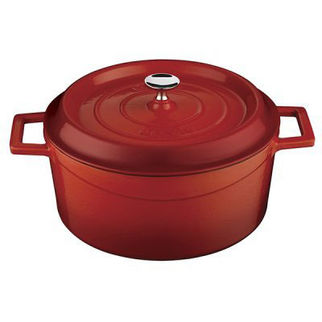 Picture of Lava Cast Iron Round Casserole Red 200mm