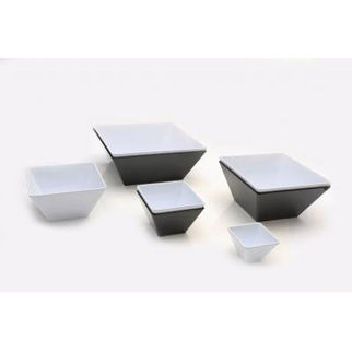 Picture of Melamine 13cm Square Bowl BLACK