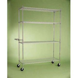 Picture of Mobile Adjustable Shelving Post Zinc 1850mm