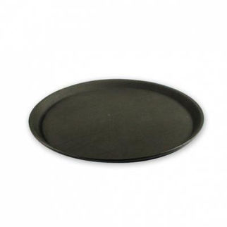 Picture of Non Slip Round Tray  black 400mm