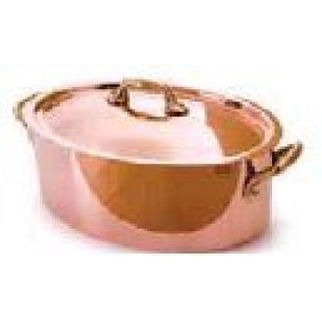 Picture of Oval Casserole 2p Copper 260x110 4lt W Lid Series 5200