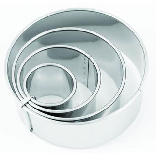 Picture of Plain Biscuit Cutters 4pc 38 63 90 110mm