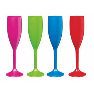 Picture of Polycarbonate 210ml Coloured Champagne Flute A 210ml