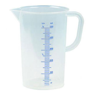 Picture of Polypropylene Measuring Jug Blue Scale 500ml