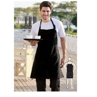 Picture of Pv Full Bib Apron Without Pocket  Black